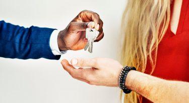 agent handing keys